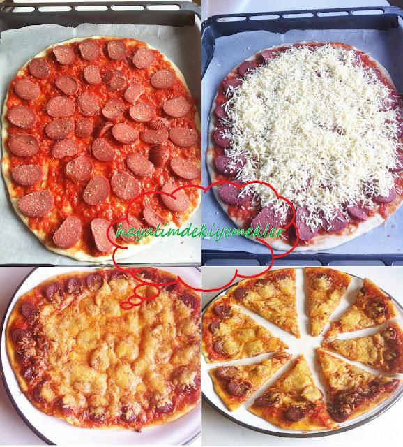 resimli degisik pizza tarifleri,pizza nasil yapilir
